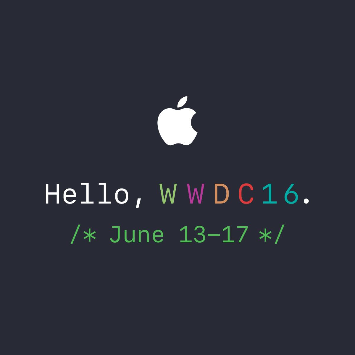 WWDC 2016: Lunedì 13 Giugno la conferenza mondiale per gli sviluppatori di Apple